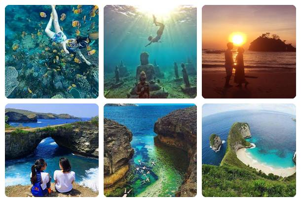 Paket 1 Day 1 Night + Snorkeling (1D1N+S) Nusa Penida